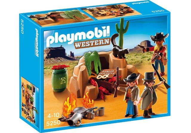 PLAYMOBIL 5250 ESCONDITE DE LOS BANDIDOS (SERIE OESTE / WESTERN). NUEVO EN CAJA.