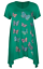 Plus-Size-Ladies-Short-Sleeve-Butterfly-Print-Dip-Hanky-Hem-Casual-T-Shirt-Top thumbnail 3