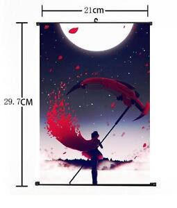 Details about Hot American Anime RWBY Ruby Cool Weiss Home Decor Poster  Wall Scroll 8