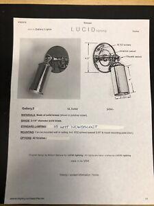 Details About Lucid Lighting Gallery 5 Light 35 Watt Halogen Polished Nickel New
