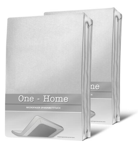 2 Spannbettlaken weiß 90x200 cm 100x200 cm Microfaser Spannbetttuch Set