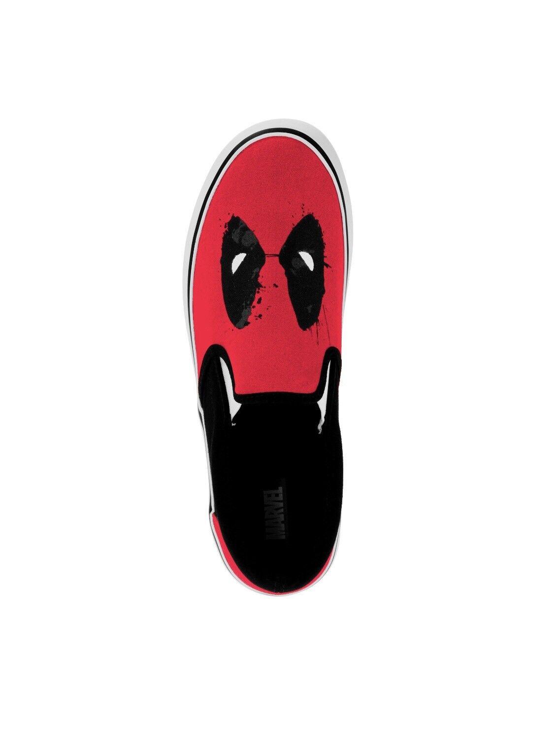 Marvel Deadpool Para Hombre Lona Sin Cordones Cordones Cordones Zapatillas Nuevo con etiquetas 68a647