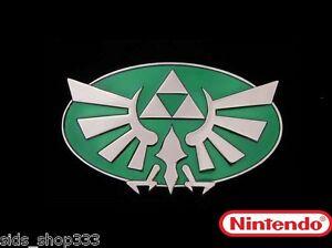 Nintendo-THE-LEGEND-OF-ZELDA-Green-and-chrome-Triforce-Belt-Buckle