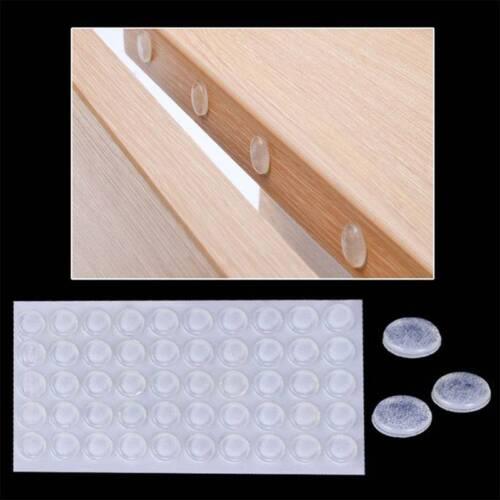 Autocollante Meubles Hardware Porte Bouchon Silicium 2 mm cabinet 50Pcs