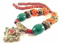 Vintage Moroccan Berber Silver Necklace,Berber Tuareg Cross Pendant Necklace