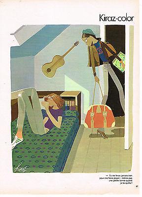 "Collectibles Breweriana, Beer Publicite Advertising 034 1979 Kiraz Color "" Une Petite Larme"""