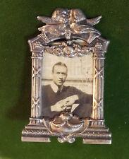 Antique Miniature Tabletop Photo Frame Cherub Angel Continental 800 Silver