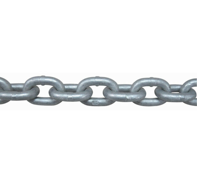 "5/16"" x 50' ISO G4 High Tensile Hot Dipped Galvanized Boat Anchor Chain"