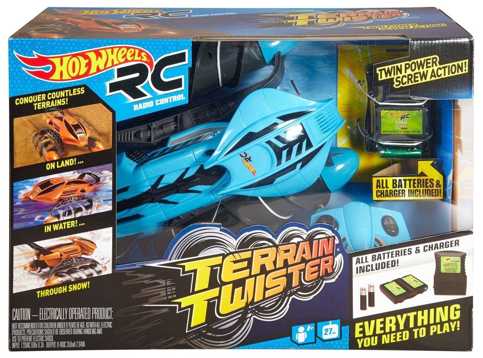 Hot Wheels RC RC RC Terrain Twister, Azul Nuevo en Caja Sellada  colores increíbles