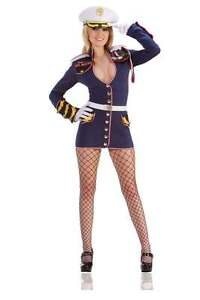 Sailor-Costume-Ladies-Deluxe-General-Mayham-Marine-Navy-Fancy-Dress-Uk-8-10-12