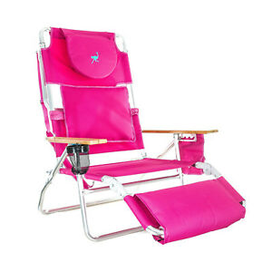 Ostrich-Deluxe-Padded-3-N-1-Outdoor-Lounge-Reclining-Beach-Lake-Chair-Pink