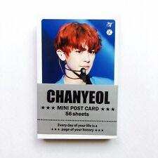"[EXO] CHANYEOL Solo Photo Message Cards 56pcs K-POP 3.39"" x 2.17"""