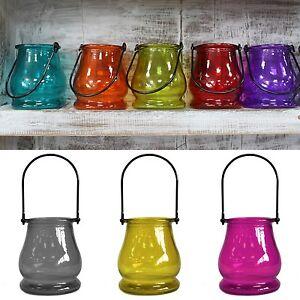 Linterna-De-Vidrio-Reciclado-sostenedor-de-vela-tealight-Colgante-De-Mesa