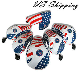 GOLF-Driver-Headcover-Hybrid-Head-Cover-USA-Flag-For-Taylormde-M2-Adams-Callaway