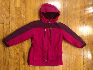 Land-s-End-Pink-Winter-Coat-Jacket-Girls-Large-6x
