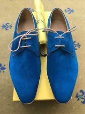 New John Lobb Paul Smith Mens Blue Suede Shoes UK 6.5 US 7.5 EU 40.5 Willoughby
