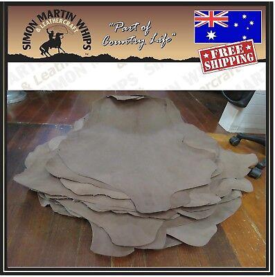 KANGAROO LEATHER x 5 hide skin bundles chrome tanned white