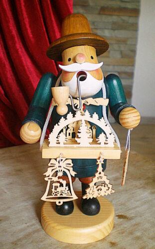 ❀ Räuchermännchen 20cm Fensterbild Weihnachtspyramide Verkäufer Räucherfigur K