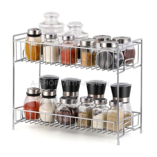 NEX 2-Tier   Kitchen Bathroom Standing Storage Organizer Spice Shelf Holder