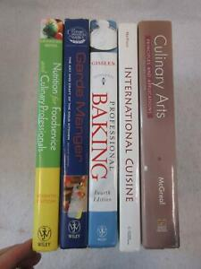 Lot of 5 Textbooks for CULIARY PROFESSIONALS ARTS NUTRITION BAKING CUISINE