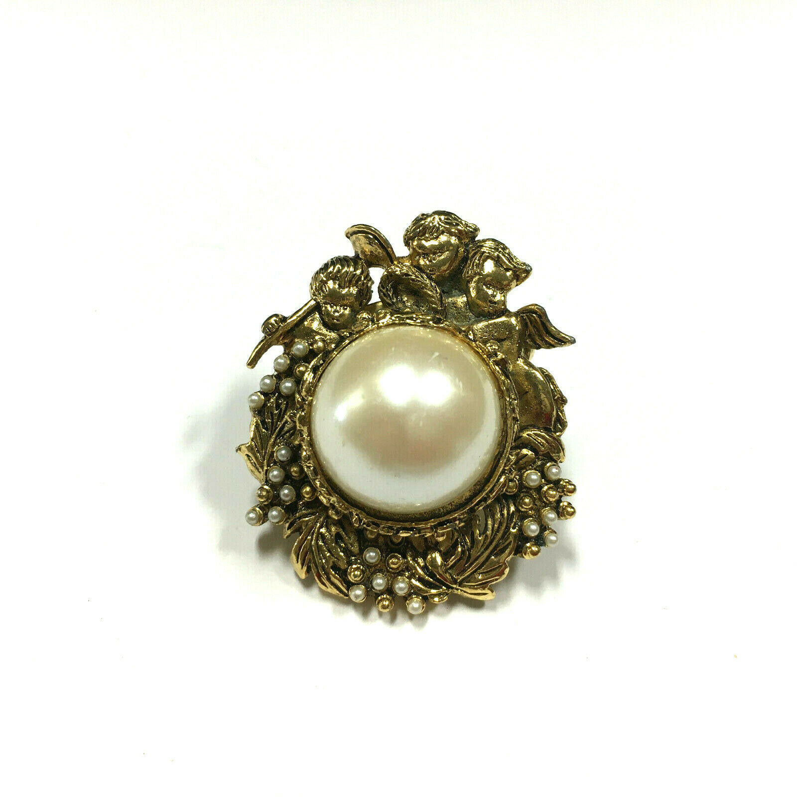 Vintage Victorian Seed PEARL Brooch Pin Ornate Ch… - image 3