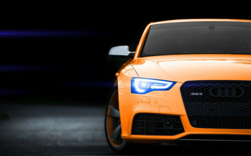 "ORANGE AUDI RS5 A4 POSTER GLOSS PRINT LAMINATED 11.7""x7.3"""