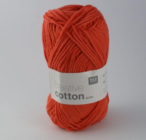 Rico Creative Cotton Aran Lobster 75 Cotton Knitting /& Crochet Yarn