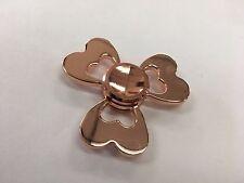 Fidget Spinner Stainless Steel Metal 3 Side Heart (Rose Gold)