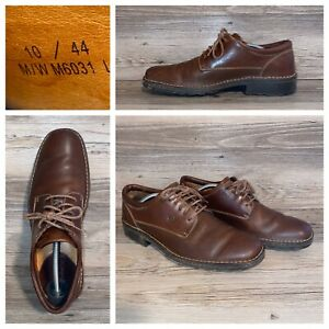 BORN-Oxfords-Brown-Leather-Lace-Up-Dress-Shoes-Mens-Size-10-Leather-Rubber-Soles