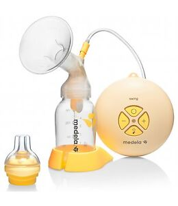 MEDELA SWING Electric Breast Pump with Calma Solitaire Baby Teat NEW + WARRANTY 7612367023962
