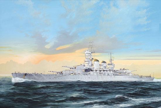 05778 Trumpeter 1 700 Model Italian Battleship RN Littorio 1941 Warship Static