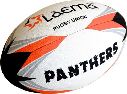 3 X High Abrasion Advance PIN GRIP 4 PLY Rugby Union Match Ball PANTHERS -Size5
