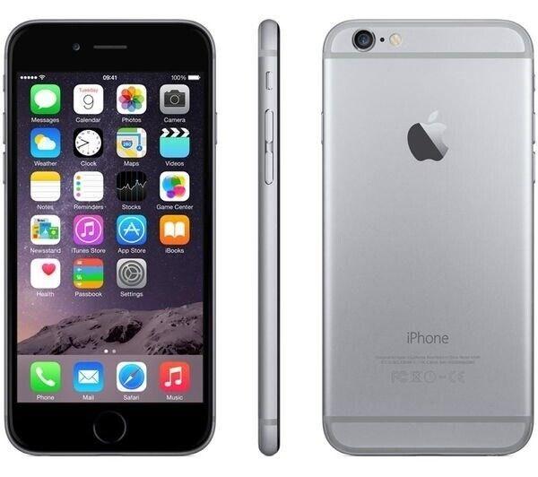 iPhone 6, GB 16, sort