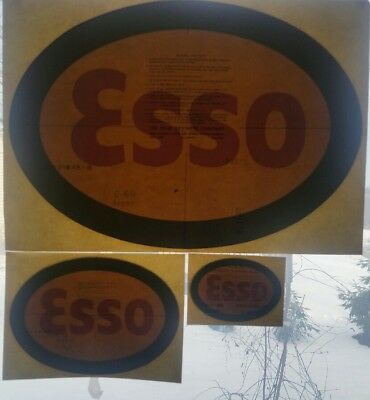 vintage gas pump decals esso set of 3 | eBay
