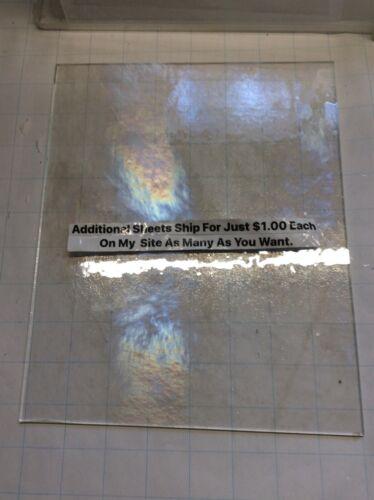"#189 889 CLEAR 8 x 10"" SLIGHT IRIDESCENT Wissmach Stained Glass Pics Glass U Get"