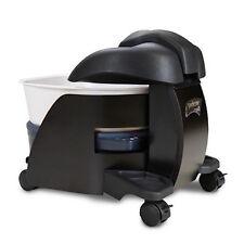 Continuum Pedicute Portable Pedicure Spa Heat & Vibrate - BLACK WOOD White Bowl