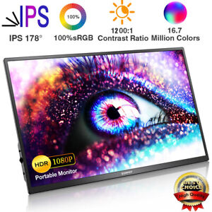 Corprit 17,3 Zoll FHD 1080P IPS Portable Bildschirm Mobiler Monitor Type-C HDMI