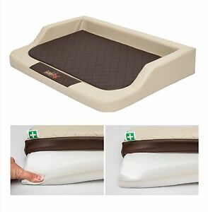 Dog bed memory foam orthopedic sofa xxl medico lux leather for Divano ortopedico per cani