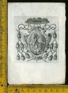 Ex Libris Antico Originale Araldica a 813 8DavDvsD-09084611-751204227