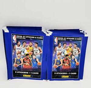 NBA Stickers & Card 2020 2021 50 bustine figurine Panini da box v. Promo