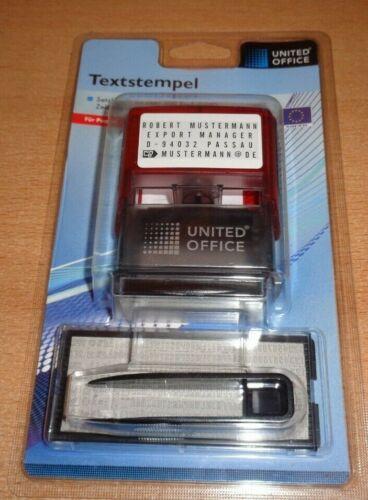 Textstempel,Adressstempel,frei konfigurierbar,300 Buchstaben//Zeichen,NEU!