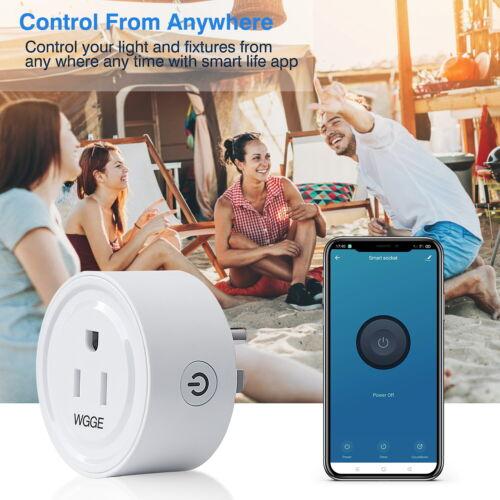 Google Assistant 2//PK Mini Smart WiFi Outlet Compatible with Alexa Smart Plug