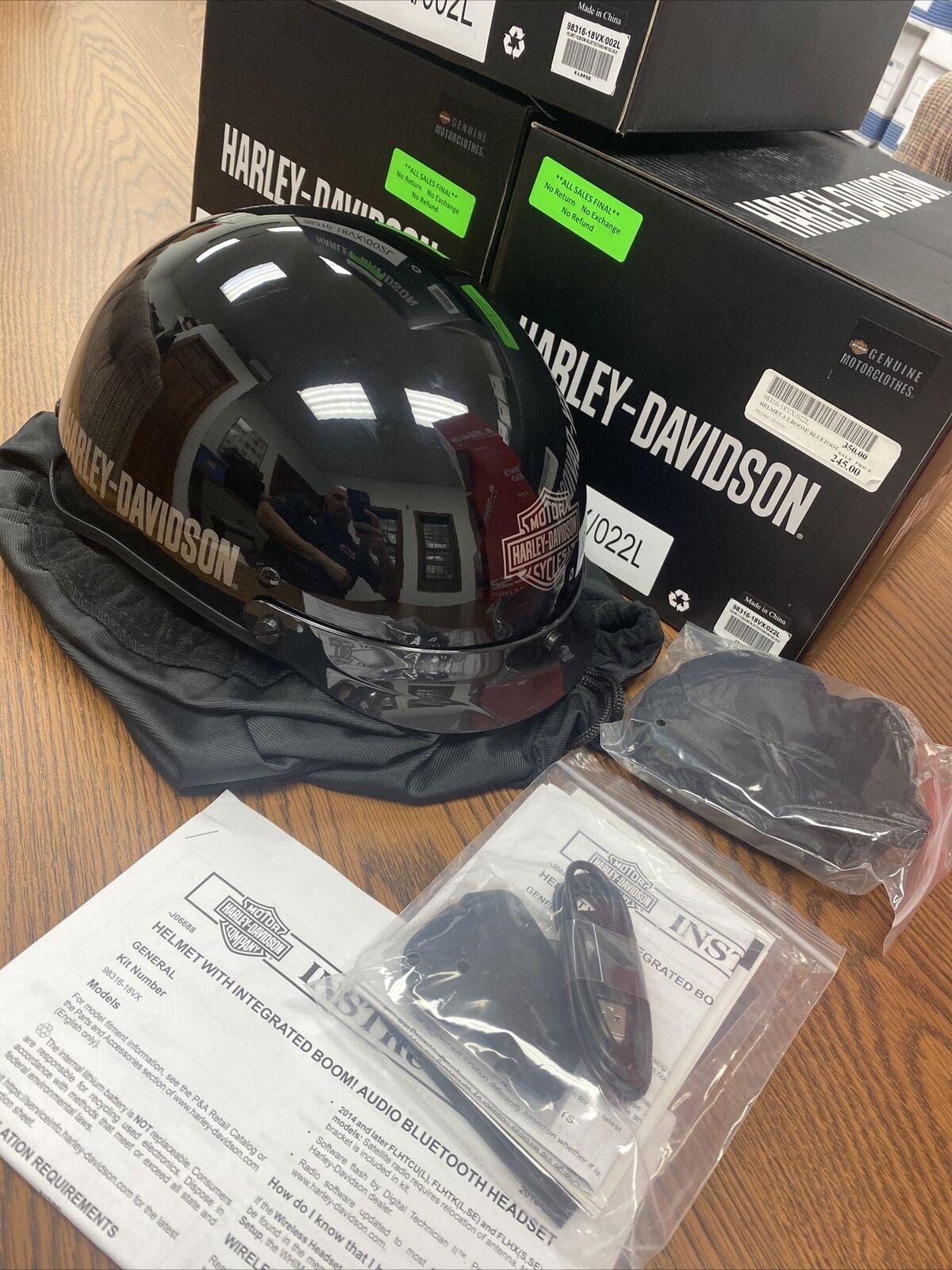 Harley Davidson Boom Audio No1 1 2 Helmet New With Box Bluetooth Sz Xl For Sale Online