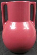 Nice Large Vintage 1930's-40's Burgundy Double Handled Vase Trenton, NJ VICHICO