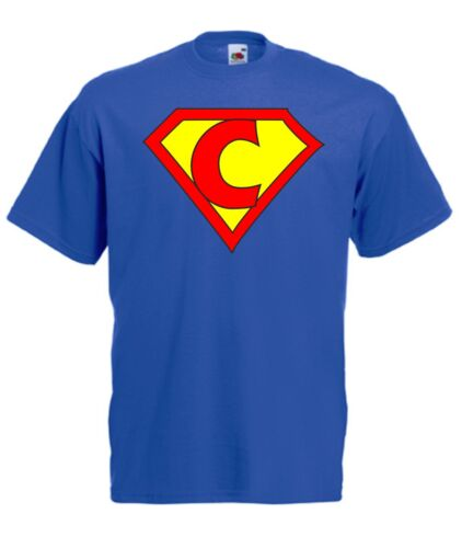 Superman t-shirt avec tes initiales!! tu es le superman point C maintenant