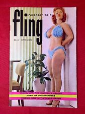 Fling Mag #16 1959 Busty Virginia Bell Cover Doris Gohlke Risqué Girlie Pinups
