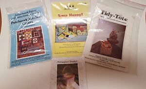 Vintage-Sewing-Quilting-Pattern-Assortment-Lot-of-Four-New