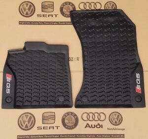 Details about Audi Q5 from 2017 original SQ5 rubber front floor mats carpets 2 piece