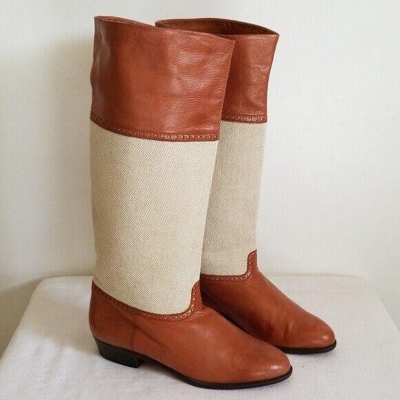 nuevo sádico Vintage Lario 1898 Marrón Cuero Bota de montar para para para mujer tamaño nos 5.5  calidad fantástica