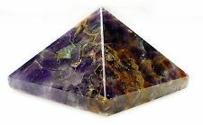 PYRAMID - AMETHYST 30-33mm Crystal w/Description & Pouch - Healing Reiki Stone